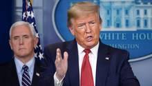 US-Präsident Donald Trump bei einer Pressekonferenz zur Coronakrise im Weißen Haus