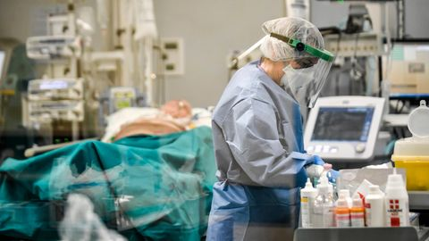 Coronavirus: Eine Intensivstation in Italien