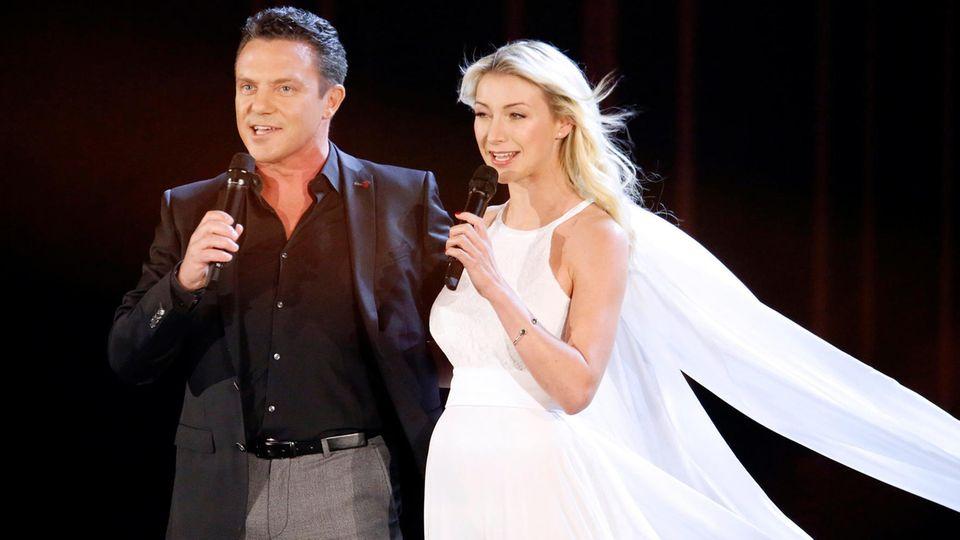 Stefan Mross und seine VerlobteAnna-Carina Woitschack