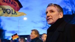 """""""Flügel""""-Gründer Björn Höcke bei einer Demonstration"""