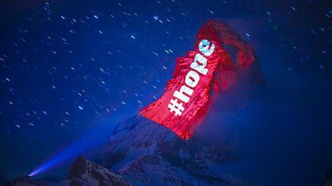 Hope - eine Message am Matterhorn von Gerry Hofstetter