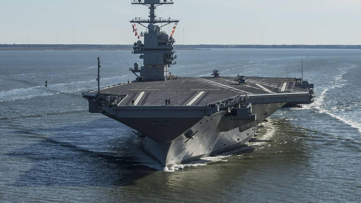 Preisschock bei der USS Gerald R. Ford – einmal Klospülen kostet 400.000 Dollar