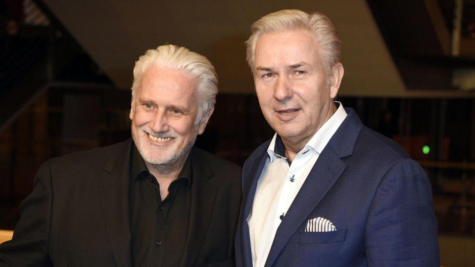 Jörn Kubicki (l.) und Klaus Wowereit auf der Berlinale 2019