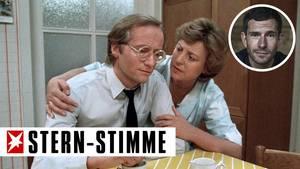 """Ein Bild aus frühen """"Lindenstraßen""""-Tagen: Helga Beimer (Marie-Luise Marjan) mit ihrem ersten Mann Hans (Joachim Hermann)"""