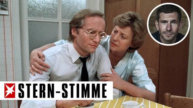 """Ein Bild aus frühen """"Lindenstraßen""""-Tagen: Helga Beimer (Marie-Luise Marjan) mit ihrem ersten Mann Hans (Joachim Hermann Luger)"""