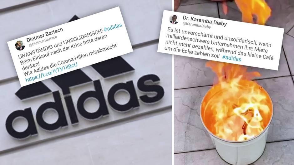 Adidas kündigt an, wegen der Coronakrise die Mietzahlungen für seine Läden zu stoppen.