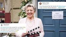 Lindenstraße-Schauspielerin Marie-Luise Marjan, Social-Media-Kommentare
