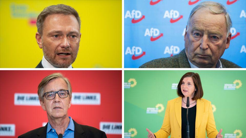 Die (Co-)Fraktionsvorsitzenden in der Opposition