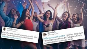 """""""Feiern, bis die Bude platzt"""": Twitter-Nutzer träumen von Zeit nach Corona"""