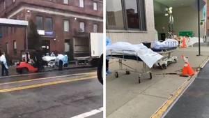 Netzvideos sollen zeigen, wie die Corona-Toten in New York abtransportiert werden.