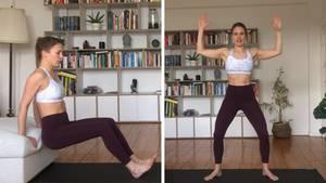 Fitnesstrainerin Freya Greskowiak zeigt einen Tabata-Work-out für die Arme und Schultern im Video.