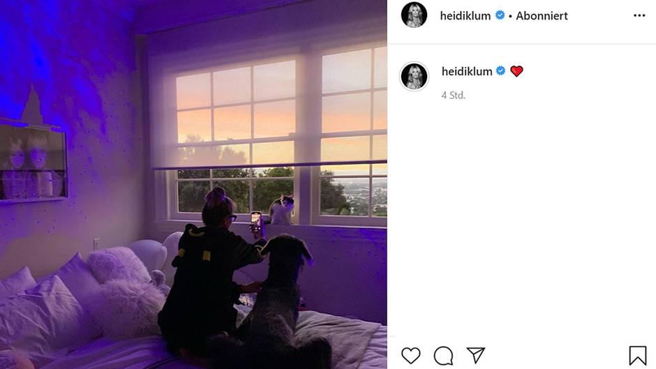 Vip News: Heidi Klum postet Foto von Tochter Leni - ein Detail überrascht