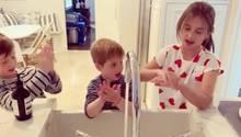Ivanka Trump zeigt ihre drei Kinder beim Händewaschen
