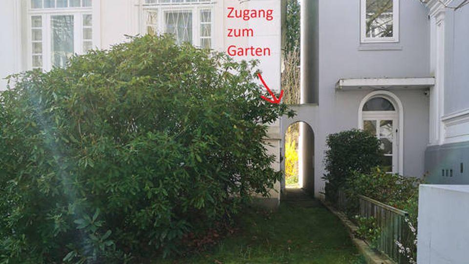Zugang zum Garten von Jan-Paul
