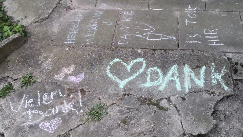 Danksagungen im Garten von Jan-Paul