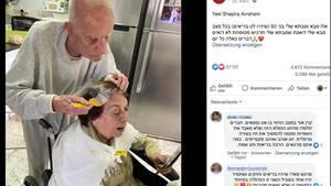 Mann färbt Frau die Haare