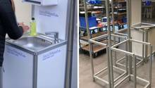 Gegen Corona für die Existenz – ein mobiles Waschbecken für alle Fälle