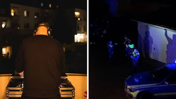 DJ Lukas veranstaltet auf seinem Balkon eine Party für die ganze Nachbarschaft