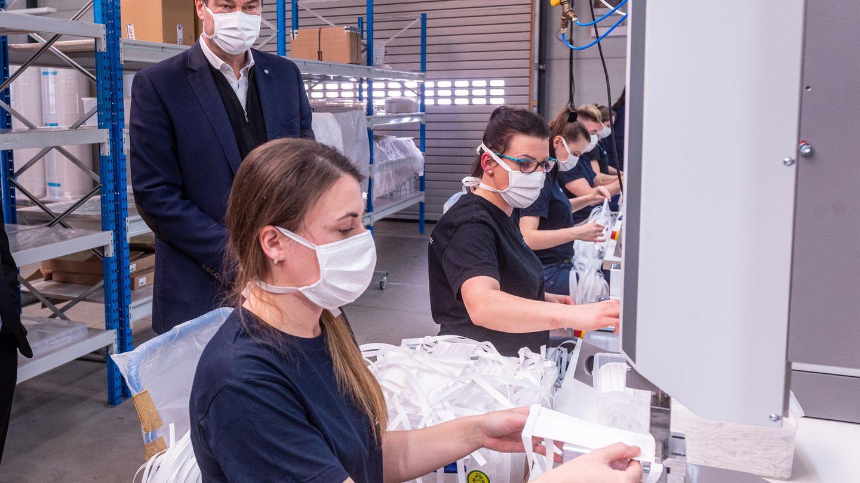 Maskenproduktion