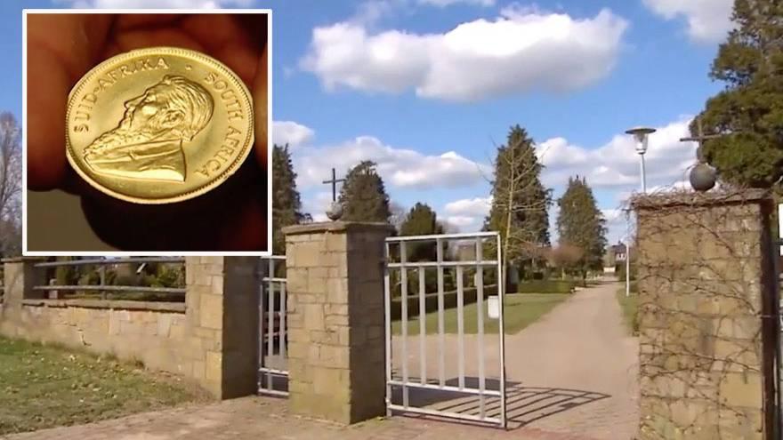 Frau meldet sich bei der Stadt: 500.000-Euro-Fund auf Friedhof: Wem gehört der mysteriöse Goldschatz aus Dinklage?