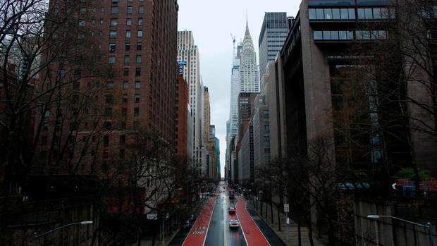 Am stärksten in den USA von der Pandemie betroffen sind die Stadt und der Bundesstaat New York