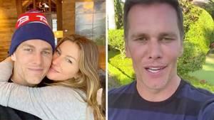 Tom Brady schickt seinen Fans eine Videobotschaft aus der Quarantäne