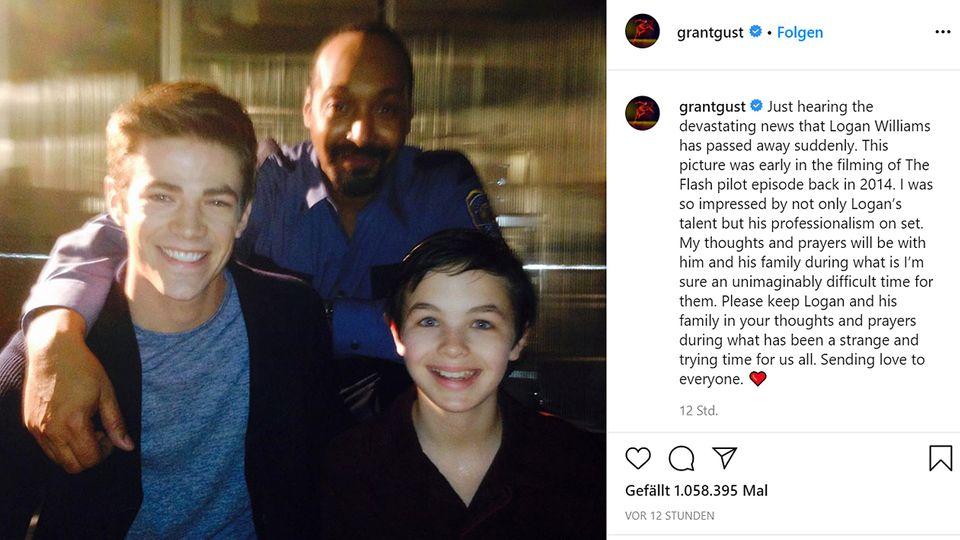 Grant Gustin erinnert auf Instagram an Logan Williams