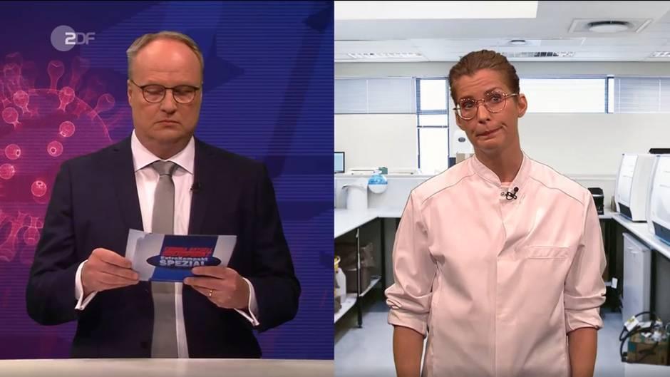 """Mit ValerieNiehaus holt sich Oliver Welke in der """"heute-show"""" eine besonders prominente """"Virulogin"""" in die Sendung"""