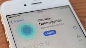 "Die App ""Corona-Datenspende"" in einem Appstore"