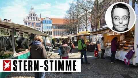 Die Deutschen lernen in Corona-Zeiten das Schlangestehen, meint unser Autor Michael Streck