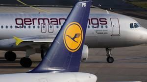 Flugzeuge von Lufthansa und Germanwings