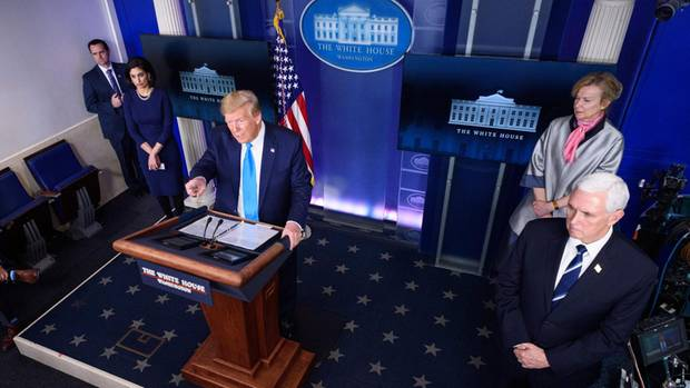 Donald Trump Corona-Pressekonferenz