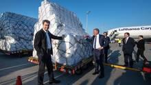 Acht Millionen Schutzmasken aus China angekommen