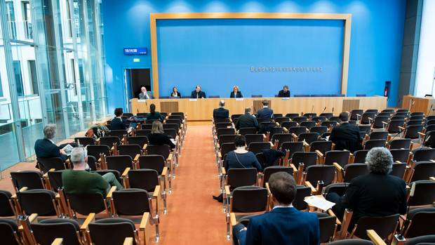 Die Bundespressekonferenz in Berlin