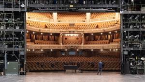Coronavirus: leeres Staatstheater Stuttgart