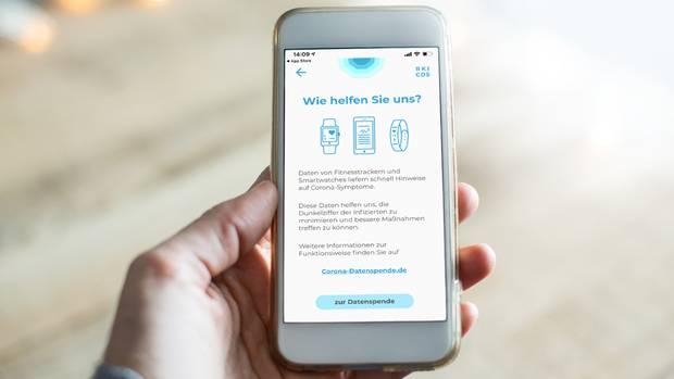 """Die App """"Corona Datenspende"""" soll Erkenntnisse über die Verbreitung in der Bevölkerung bringen"""