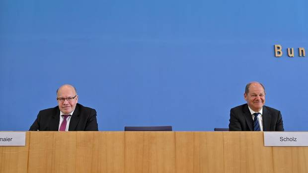 Coronavirus: Bundeswirtschaftsminister Peter Altmaier (CDU) und Bundesfinanzminister Olaf Scholz (SPD)