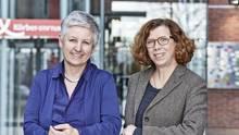 Karin Haist (l.) und Susanne Kutz von der Körber-Stiftung