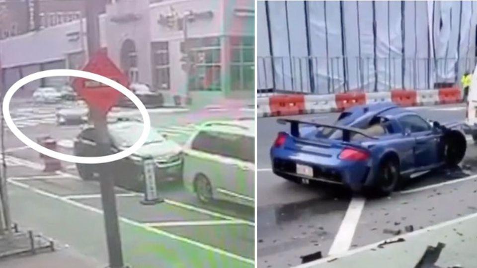 Millardär macht New Yorks Straßen zur Rennstrecke und crasht seinen 670-PS-Wagen