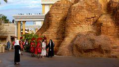 Statt Micky Mouse und Achterbahnen stehen Moses und Maria, der alttestamentarische Tempel und die Arche Noah auf dem Programm im Holy Land Experience.