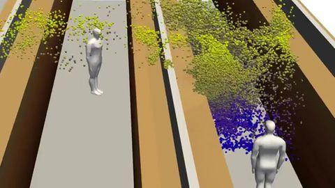 Coronvirus-Verbreitung: 3D-Modell zeigt, was ein einzelnes Husten auslösen kann
