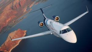 Mit einem Privatjet des TypsEmbraer Legacy 600 flogeine Gruppe reicher Geschäftsleute von London nach Marseille (Symbolbild)
