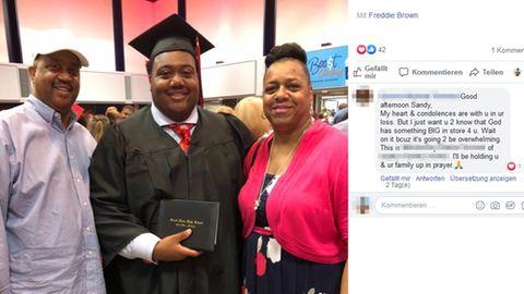 Auf Facebook teilt Sandy Brown die schönen Momente, die sie gemeinsam mit ihrem Ehemann und ihrem Sohn hatte.