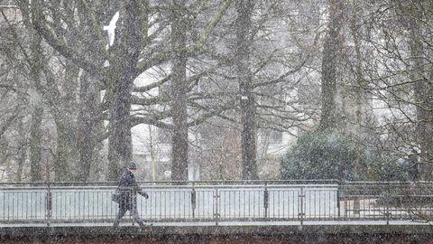 """Bremen: Zum letzten Mal hat es hier am 30. März geschneit.Tief """"Tanja"""" könnte neuen Schnee mitbringen."""