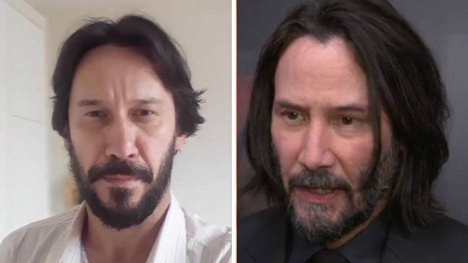 Keanu Reeves hat einen brasilianischen Doppelgänger, der ihm zum Verwechseln ähnlich sieht