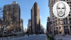 Die Straßen in New York sind fast komplett leer