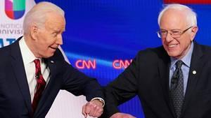 US-Präsidentschaftsrennen - Joe Biden - Bernie Sanders