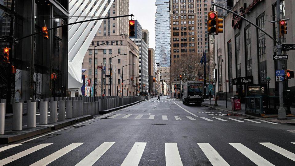 Die Church Street in Lower Manhattan