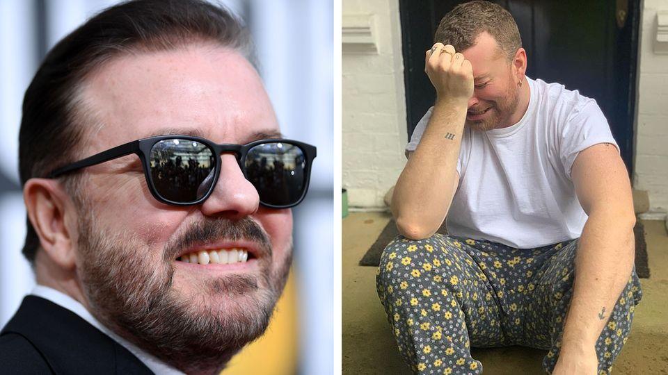 Ricky Gervais und Sam Smith