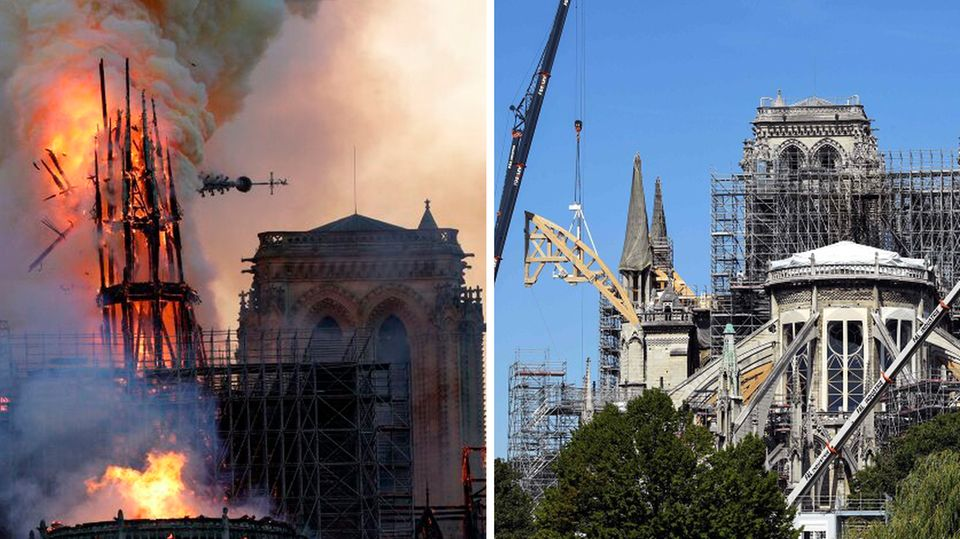 Die Notre-Dame ein Jahr nach dem Brand: Wie weit ist der Wiederaufbau?